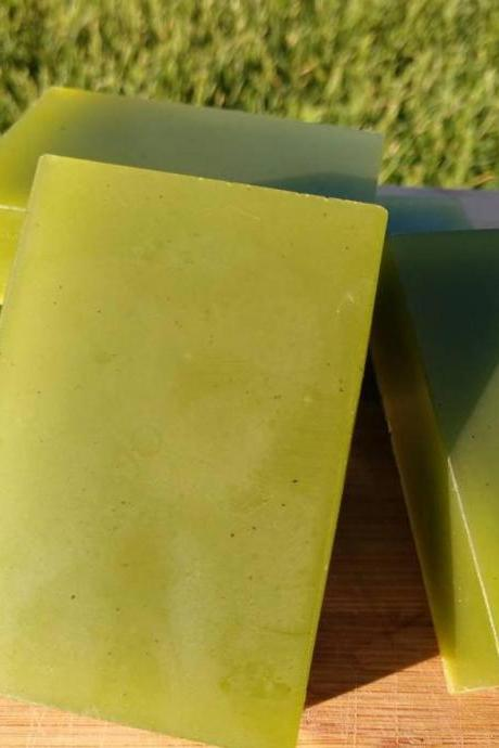 Basil shea butter glycerin All Natural handmade 4 oz Soap bars